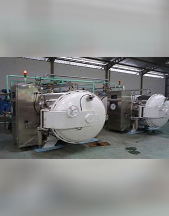 Water Spray air overpressure retorts